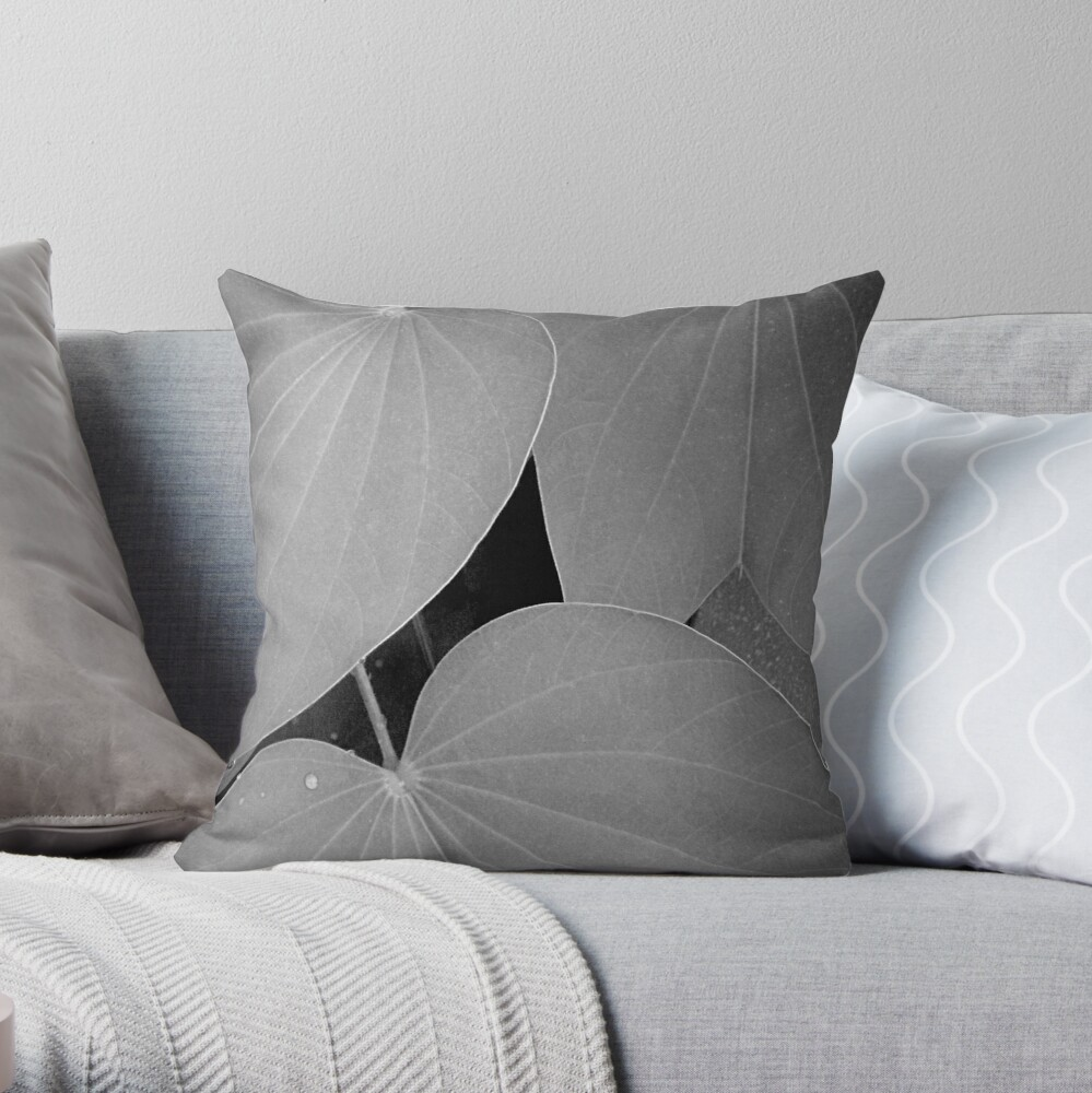 Dull day, after a shower Throw Pillow