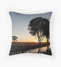 The Day Ends Here. Throw Pillow