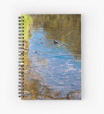 Downward Duck in Swirly Waters Spiral Notebook