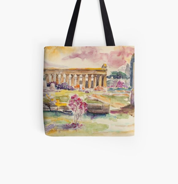 Paestum In Spring All Over Print Tote Bag