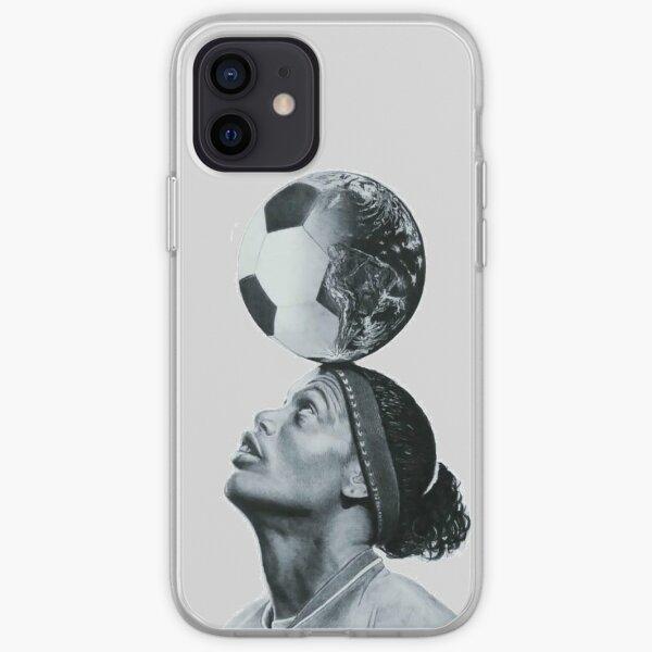 Art Ronaldinho Ilustración Funda blanda para iPhone