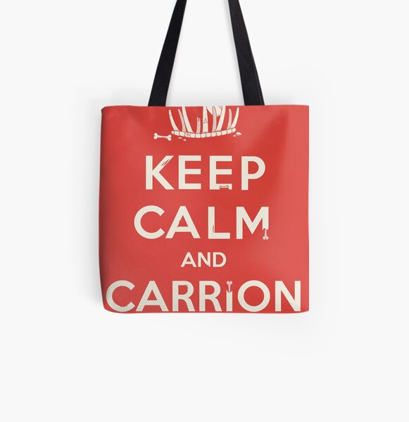 Keep calm and carrion All Over Print Tote Bag