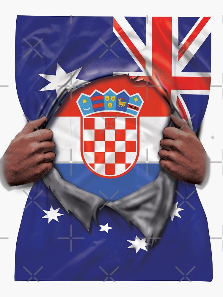 Croatia Flag Australian Flag Ripped Open - Gift For Croatian From Croatia von Popini