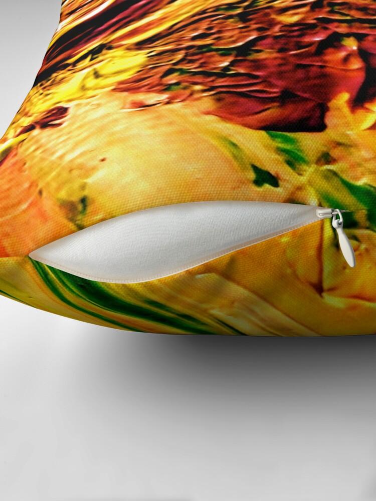 Alternate view of Lush Irises from Kelley's Jardin Throw Pillow