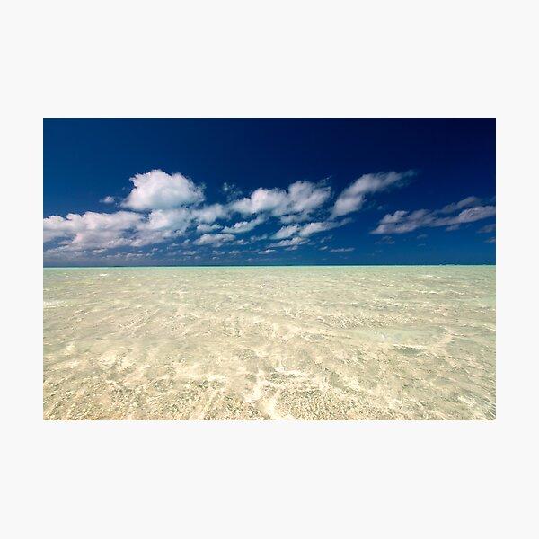 Aitutaki Lagoon Photographic Print