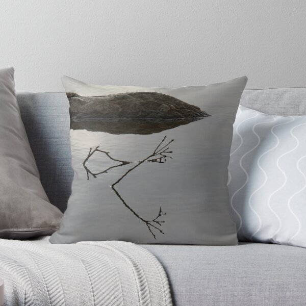 Rock n Twigs Throw Pillow