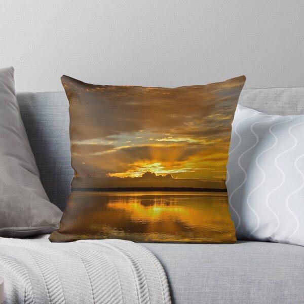Golden Day. (sunrise ) Throw Pillow