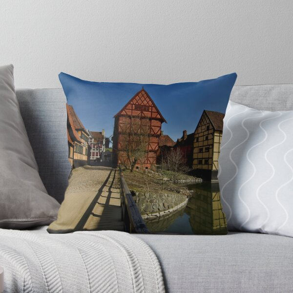 The old town  Throw Pillow