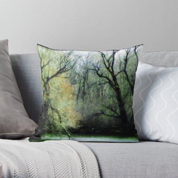 Emerald Woods © Throw Pillow