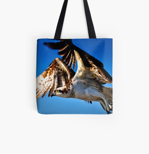 Osprey in Flight All Over Print Tote Bag