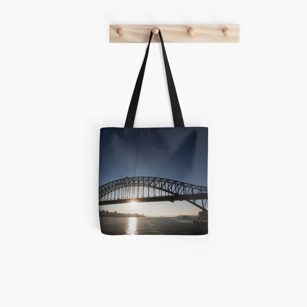 Sydney Harbour Bridge, Early Morning Rays Tote Bag
