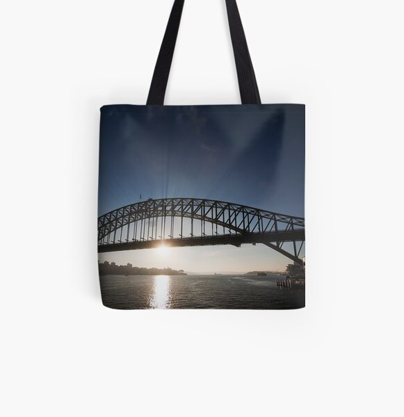 Sydney Harbour Bridge, Early Morning Rays All Over Print Tote Bag