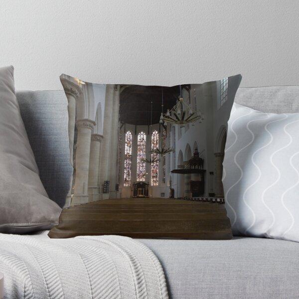 Old Church, Delft Throw Pillow