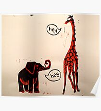 The Elephant & The Giraffe Poster