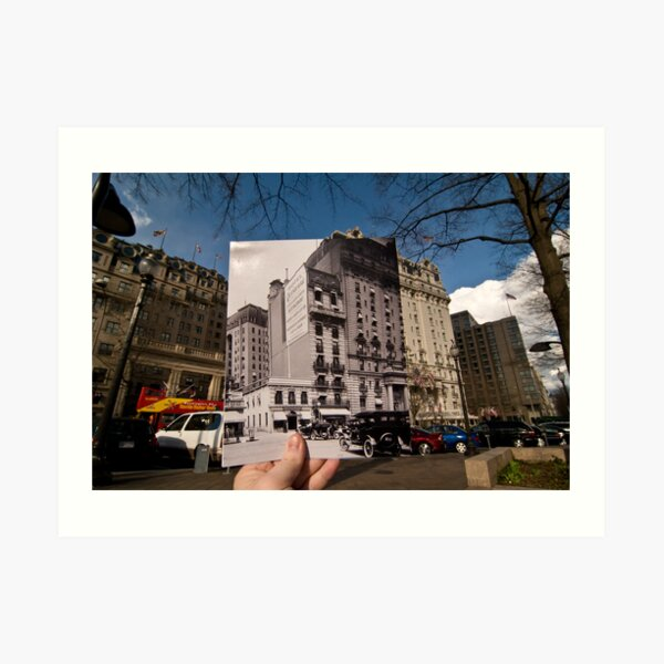 Looking Into the Past: Willard Hotel, Pennsylvania Ave, Washington, DC Art Print