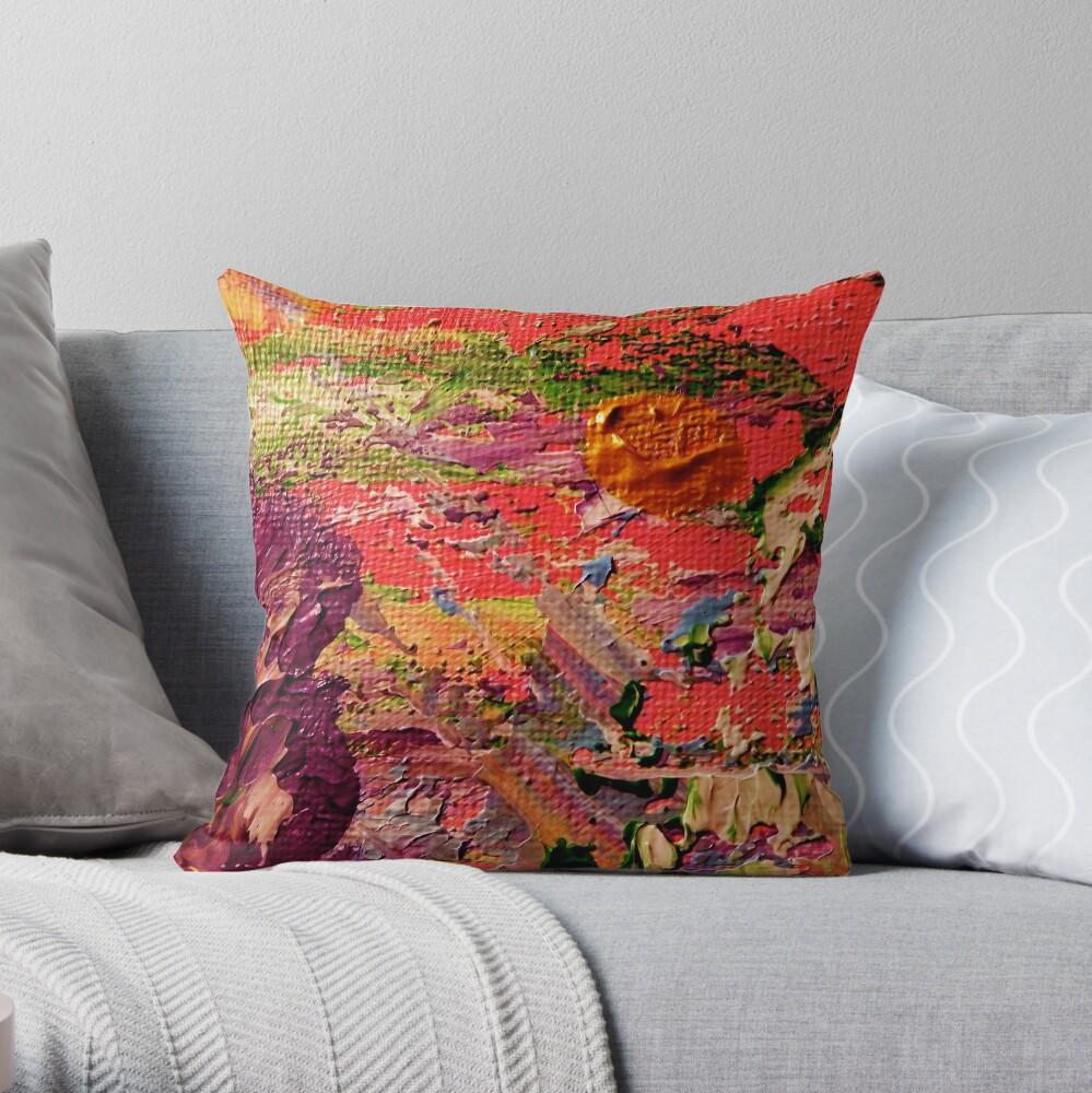 Purple Iris from Kelley's Jardin Throw Pillow