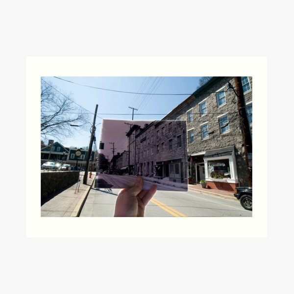 Looking Into the Past: Main Street, Ellicott City, MD Art Print