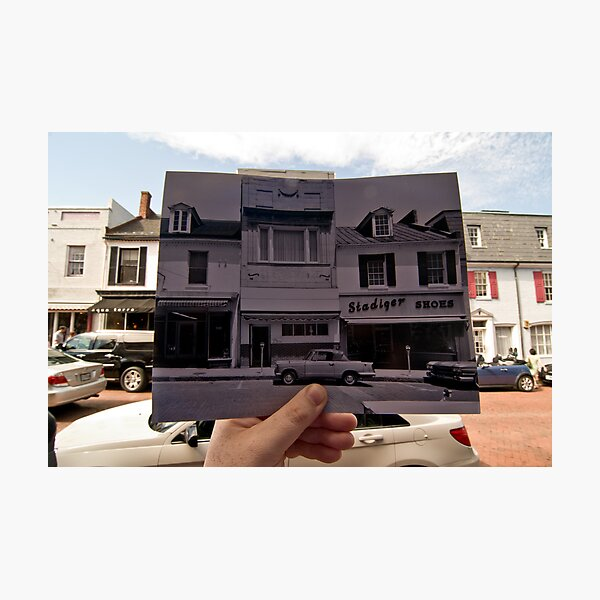 Looking Into the Past: Main Street, Annapolis, MD Photographic Print