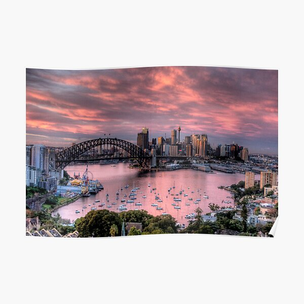 In The Pink - Sydney Harbour - The HDR Experience Poster