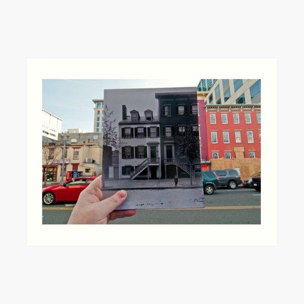 Looking Into the Past: Mary Surratt House, Washington, DC Art Print