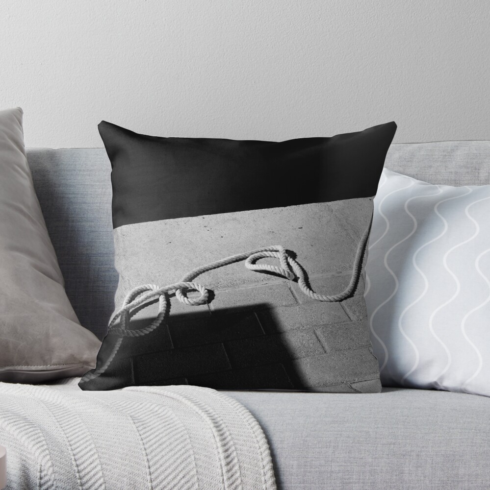 The Hanging Rope Throw Pillow
