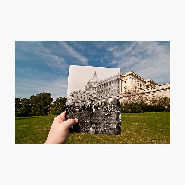 Looking Into the Past: Easter Egg Roll at the US Capitol Photographic Print