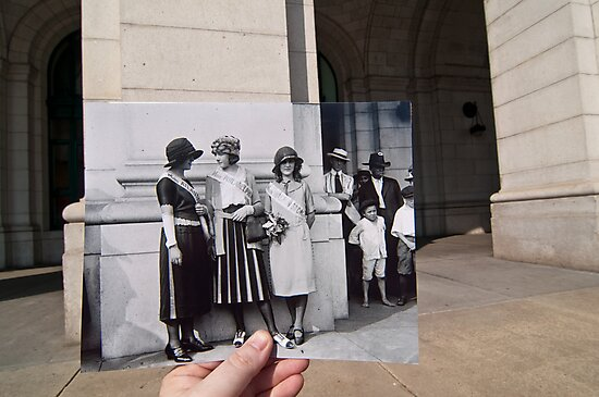 Looking Into the Past: Beauty Pageant Winners, Union Station, Washington, DC by Jason Powell