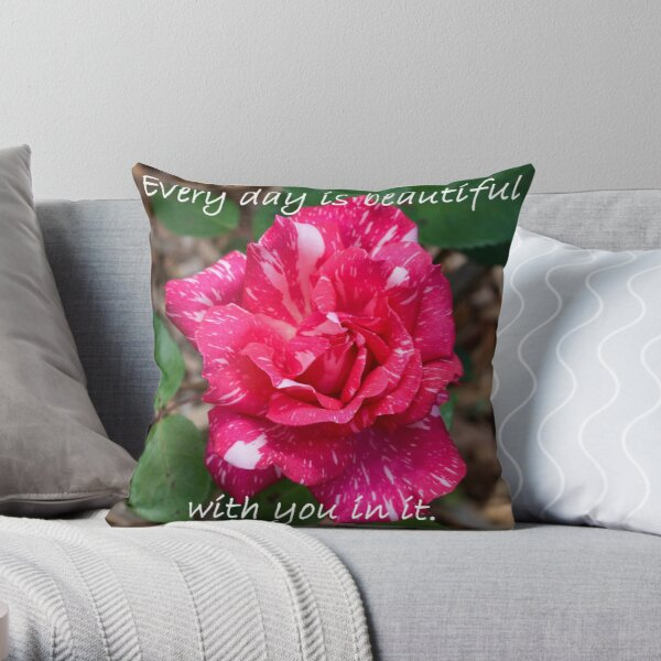 Every day is beautiful Throw Pillow