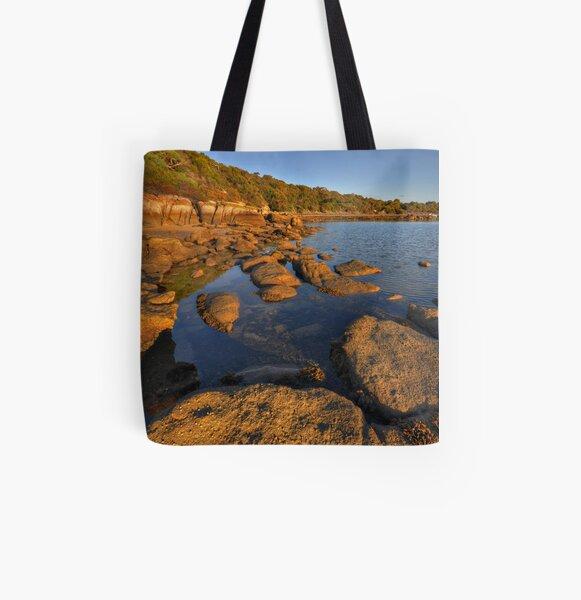 Rocks and Sea All Over Print Tote Bag