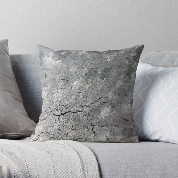 Cracks and clouds: what is this? Throw Pillow