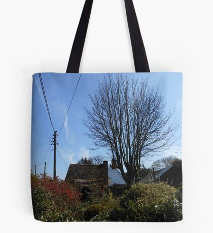 A Thatched Cottage on a Sunny Spring Day Tote Bag