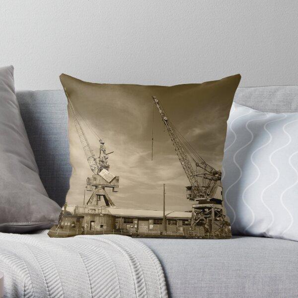 Cockatoo Dock Crane Twins Throw Pillow