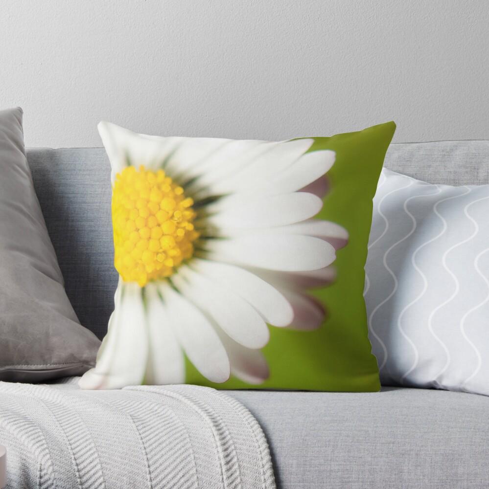 Spring Daisy Throw Pillow