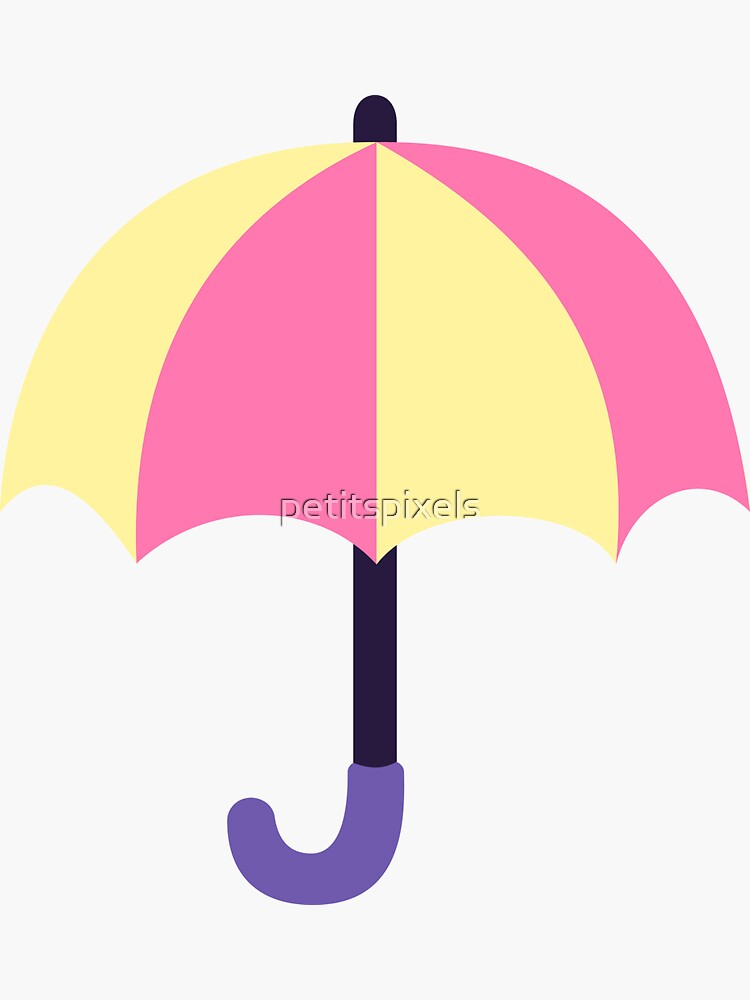 Pink and yellow umbrellas by petitspixels
