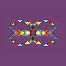 «Triángulos reflectantes en púrpura» de Istvan Ocztos