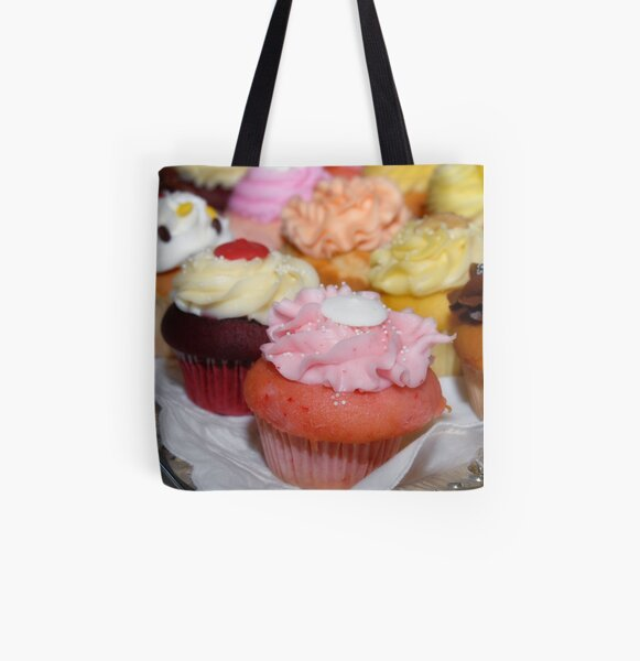 Cupcakes All Over Print Tote Bag