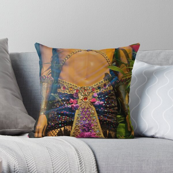 Brasil to Ny (add'l images)  as per request: Torso of Watcher Throw Pillow