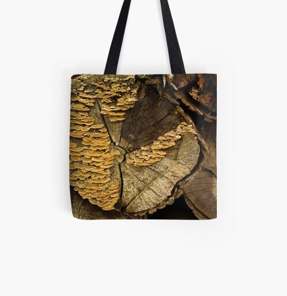 Turkey Tail - pretty bracket fungi All Over Print Tote Bag