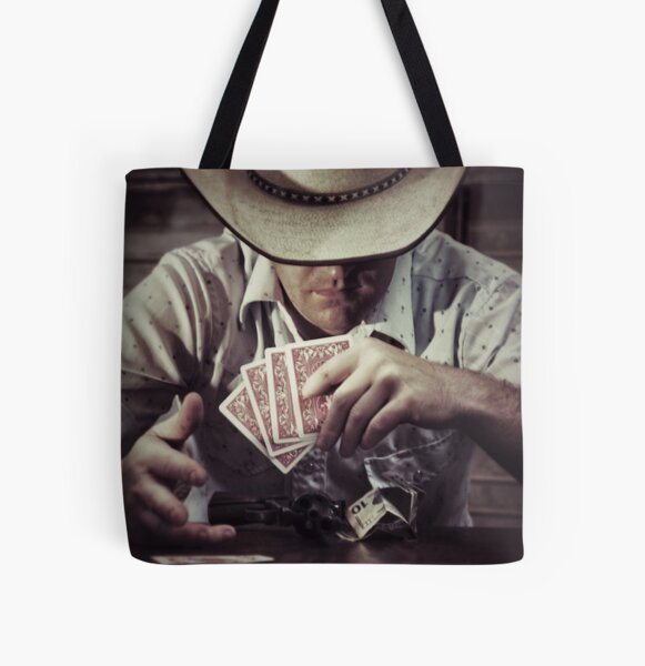 Poker Face All Over Print Tote Bag