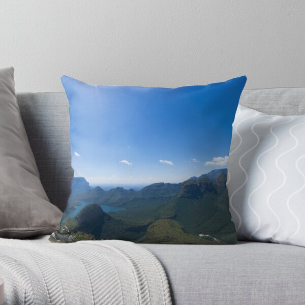 Starburst Over the Rondavels Throw Pillow