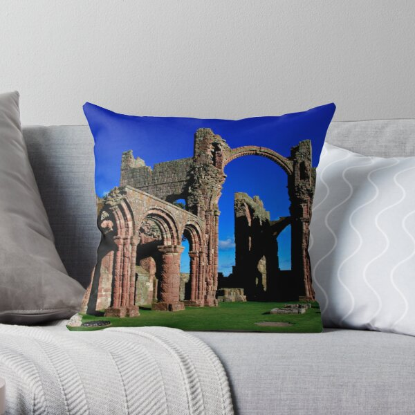 Lindisfarne Priory, Holy Island Throw Pillow