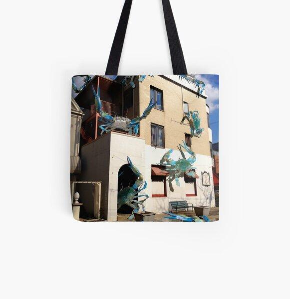 Ocean Invasion #12: We've Got Crabs All Over Print Tote Bag