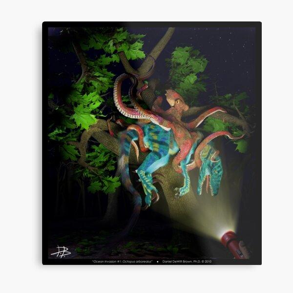 Ocean Invasion #1: Octopus arborealus Metal Print