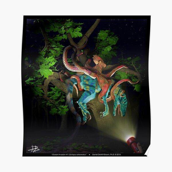 Ocean Invasion #1: Octopus arborealus Poster