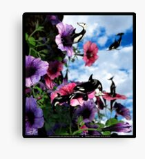 Ocean Invasion #2: Nectar for the Orcas Canvas Print
