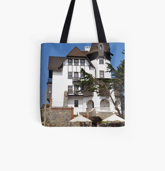townhall of papudo, chile All Over Print Tote Bag