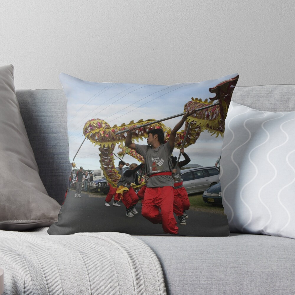 Narooma Oyster Festival Throw Pillow