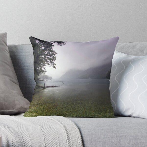 Lake Gunn in the Rain Throw Pillow