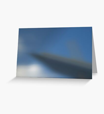 the blurred vision Greeting Card