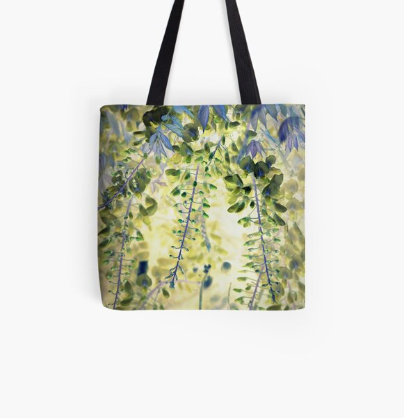 Wisteria All Over Print Tote Bag